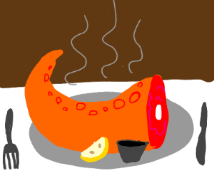Warm Octopus Tentacle