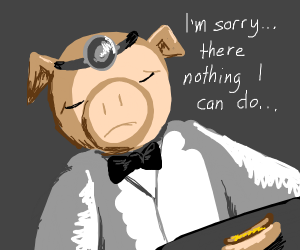 Dr Pig: I diagnose you with dead
