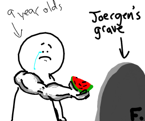 Pay tribute to Jorger with watermelon