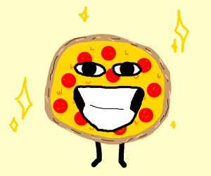 Enthusiastic pizza
