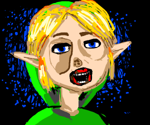 Link But Extremely Cursed And Horrifying Drawception