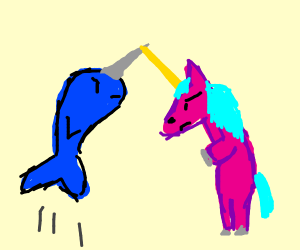 Narwhal and Unicorn Fight