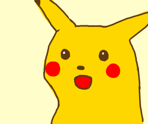 Suprised Pikachu