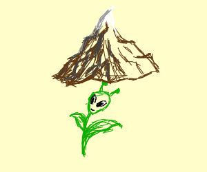 mountain on an alien flower
