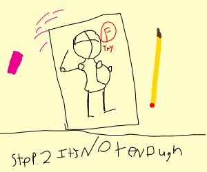 Step 1: draw with all of your effort