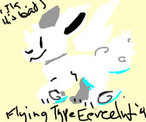 Create a Flying type Eevee Evolution - Drawception