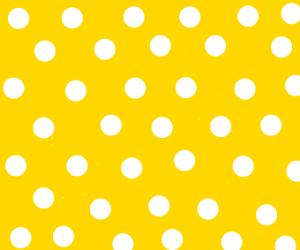 White polka dots on a bright yellow backgroun
