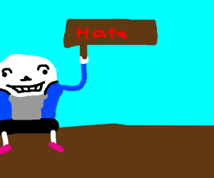 Sans has joined a hate group