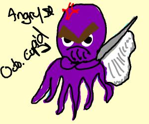 octopus cupid is unhappy