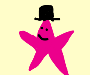Starfish wearing a Hat