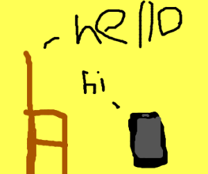 Chair talks to phone