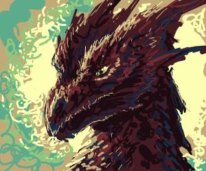 Chocolate colored dragon head