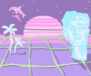 yet another vaporwave landscape