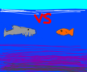 ChainSaw fish vs orange fish