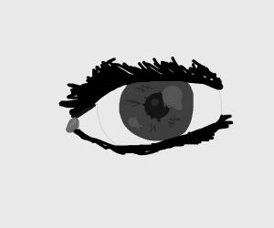 Closeup realistic eye