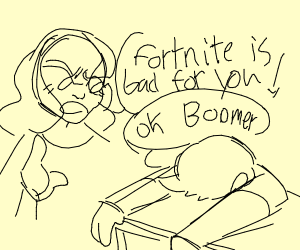 Mom complaining about fortnite to their kid