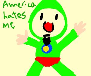 Tingle's CAKE deceives Link.