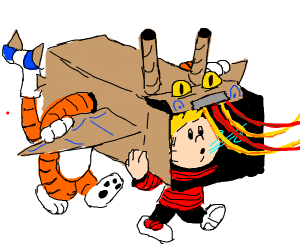 Calvin and Hobbes celebrate Chinese New Year