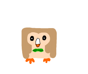 Rowlet but he's a square
