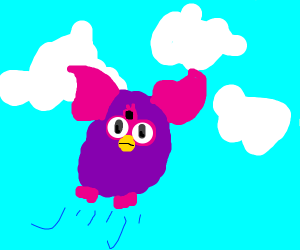flying furby