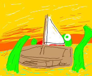 kraken attacks boat