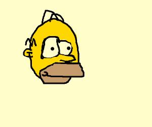 Homer's head