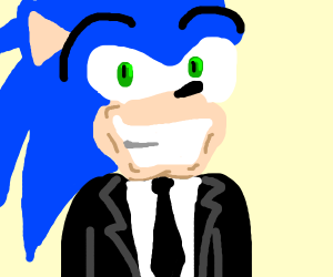 Business man Sonic the Hedgehog
