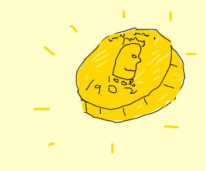 shiny gold coin