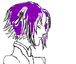 edgy purple haired guy