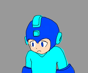 Mega man is not happy