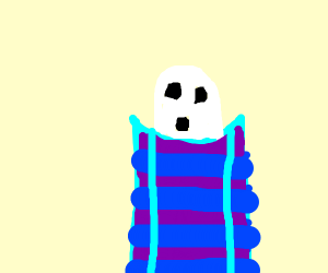 ghost in a sleeping bag