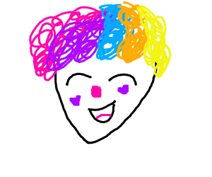 Cheerful clown kid