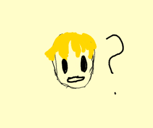 Guy with yellow hair