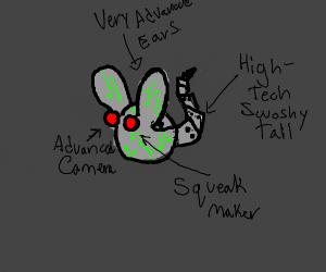 high tech robot mouse
