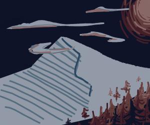 Desolate mountain