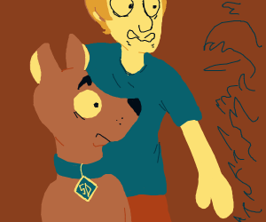 Shaggy and Scooby encounter tha monster