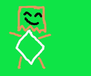 Sentient paper bag with diamond armour