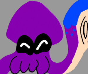 Happy purple squid is hUGE