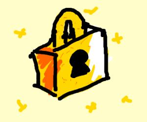a golden lock