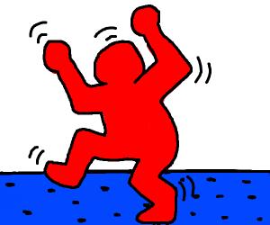 Red man dancing