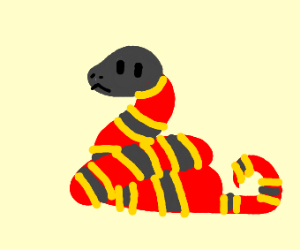 A red snake