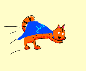 Eppo the orange cat, as a superhero >:3