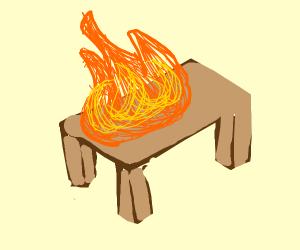Burning table