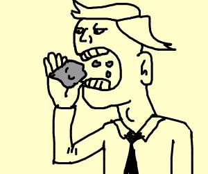 eating rocks