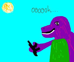 Barney finds gun in backyard