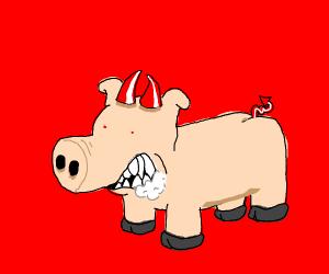 Satan pig
