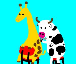 cow-giraffe art
