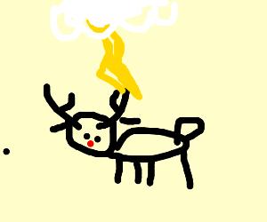 reindeer struck by lightning