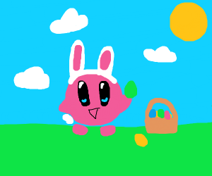 Kirby with an Easter-based copy ablity