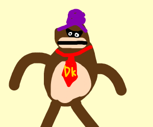 Donkey Kong With Purple Hair